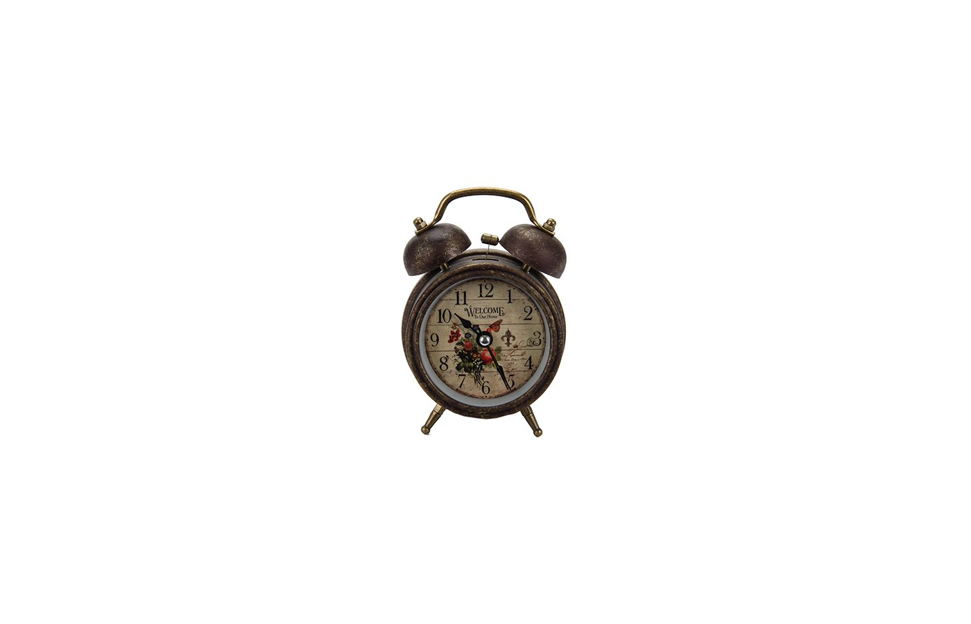Будильник 529-096 Будильник электронный с подсветкой Ретро 3 металл пластик 12х85х55см 1хАА