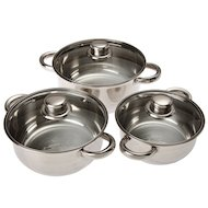 Фото Набор посуды VETTA 822-038 Набор посуды 3 кастрюли 1.5л+2.1л+2.9л с крышками
