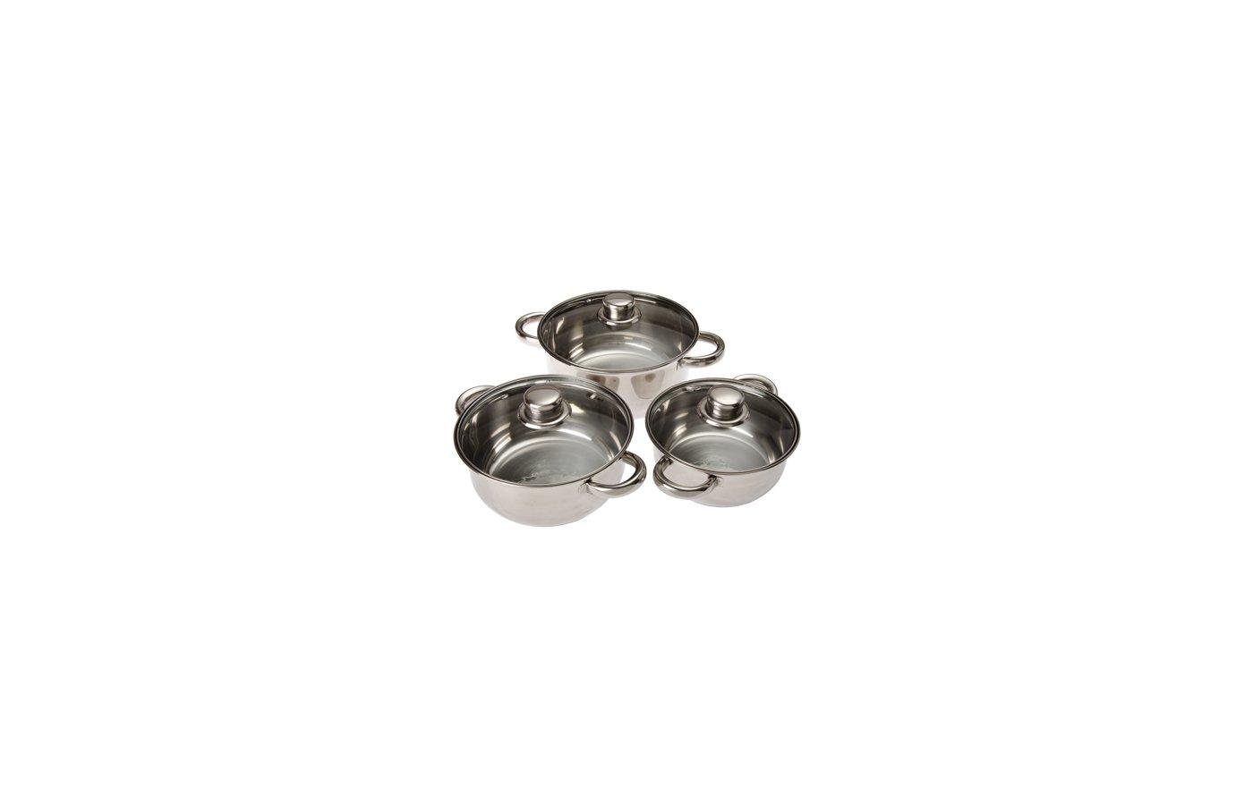 Набор посуды VETTA 822-038 Набор посуды 3 кастрюли 1.5л+2.1л+2.9л с крышками