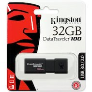Фото Флеш-диск USB3.0 Kingston 32Gb DataTraveler 100 G3 DT100G3/32GB черный