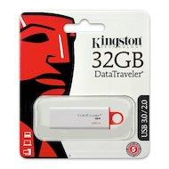 Фото Флеш-диск Kingston 32Gb DataTraveler G4 DTIG4/32GB USB3.0 белый