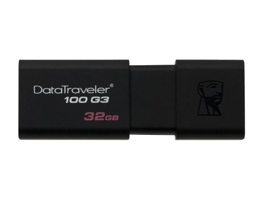 Флеш-диск USB3.0 Kingston 32Gb DataTraveler 100 G3 DT100G3/32GB черный