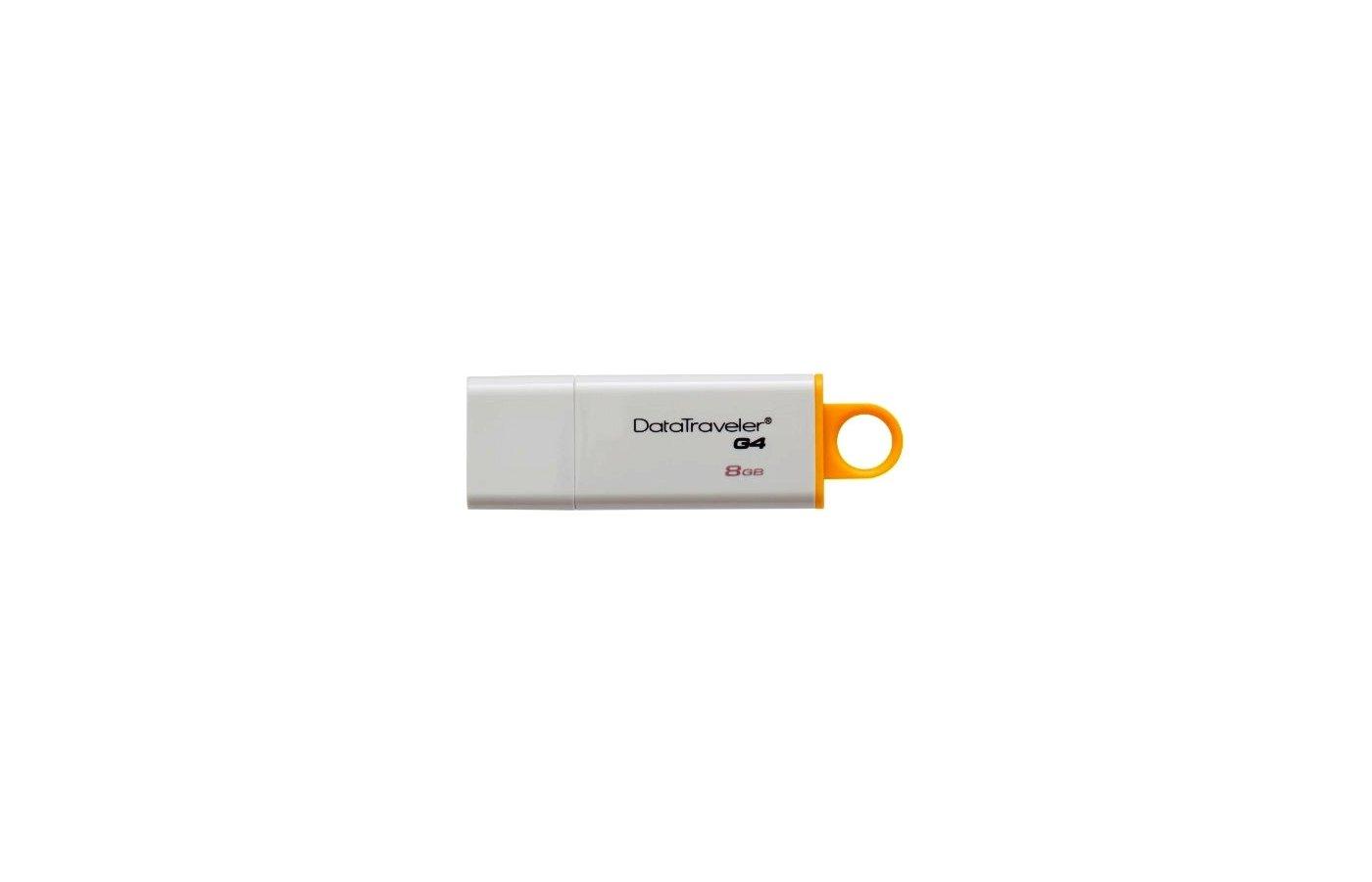 Флеш-диск Kingston 8Gb DataTraveler G4 DTIG4/8GB USB3.0 белый