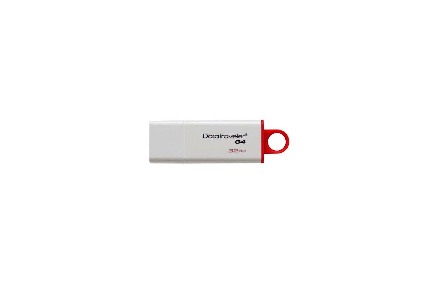 Флеш-диск Kingston 32Gb DataTraveler G4 DTIG4/32GB USB3.0 белый