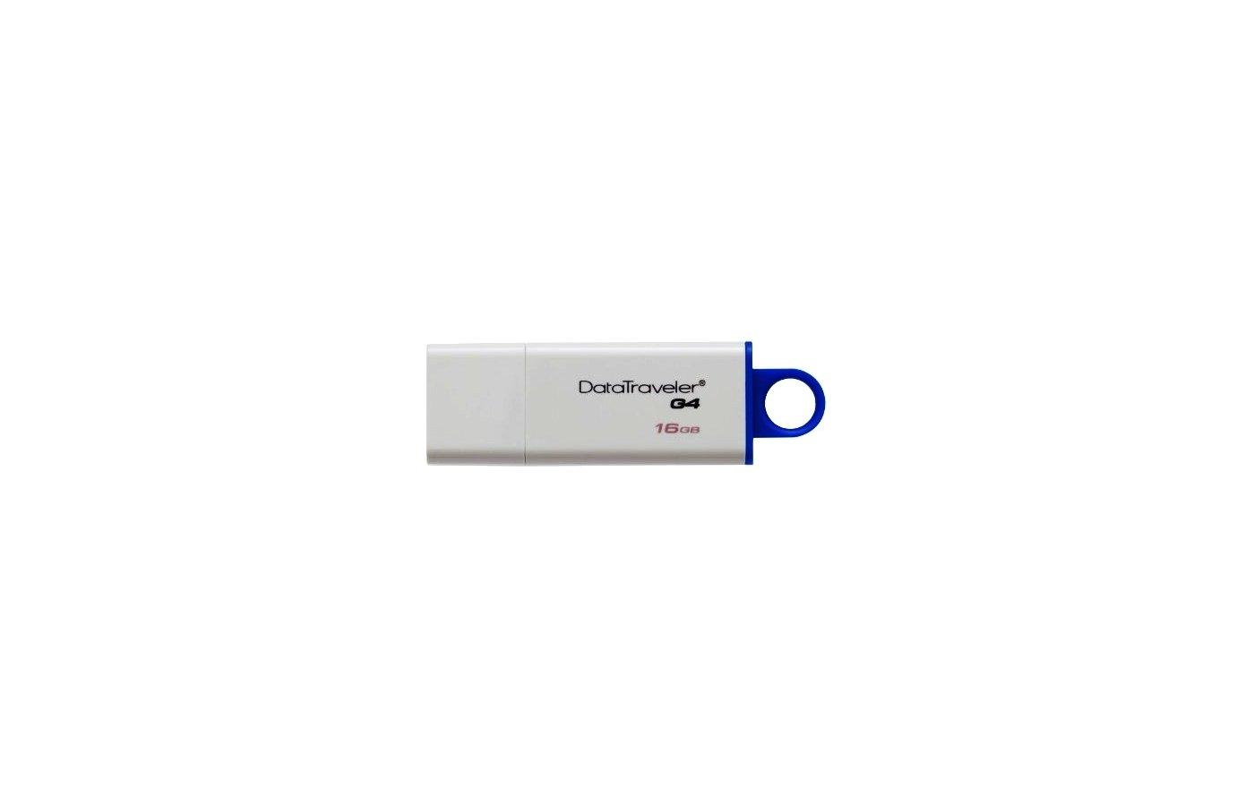 Флеш-диск Kingston 16Gb DataTraveler DTIG4/16GB USB2.0 белый/синий