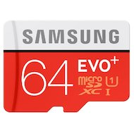 Фото Карта памяти Samsung microSDXC 64Gb Class 10 EVO Plus + адаптер (MB-MC64DA)