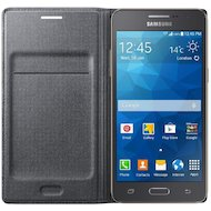 Фото Чехол Samsung Flip Wallet для Galaxy Grand Prime (G530/G531) черный (EF-WG530BSEGRU)