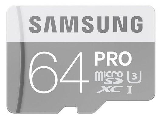 Карта памяти Samsung microSDXC 64Gb Class 10 PRO + адаптер (MB-MG64EA)