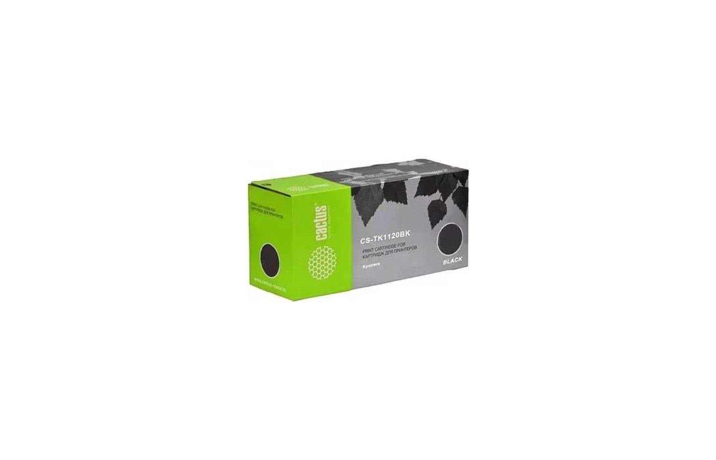 Картридж лазерный Cactus CS-TK1120BK черный для Kyocera FS 1025MFP/1060/1060DN/1125/1125MFP (3000стр.)