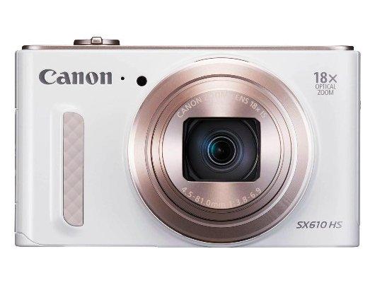 Фотоаппарат компактный CANON PowerShot SX610 HS белый