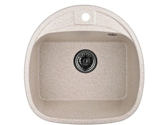 Кухонная мойка Weissgauff SOFTLINE 500 Eco Granit светло-бежевый