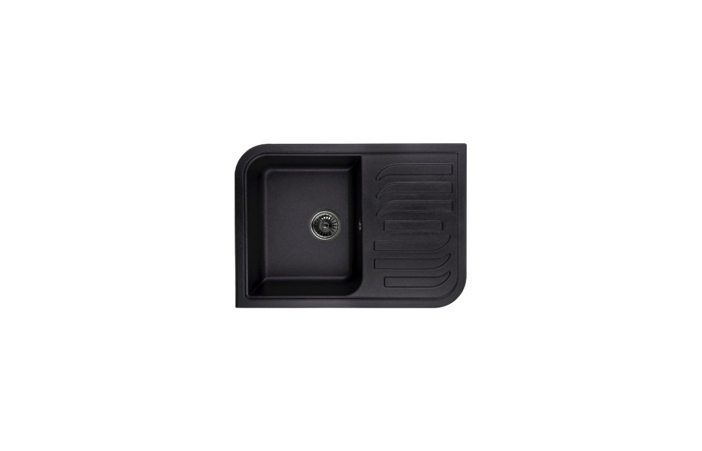 Кухонная мойка Weissgauff SOFTLINE 695 Eco Granit черный