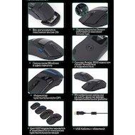 Фото Мышь проводная Zalman ZM-M501R USB Gaming Mouse 4000dpi (Avago 3050) 9 buttons 4x LED illumination weight adjustmen