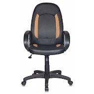 Фото Бюрократ CH-826/B+BG вставки бежевый сиденье черный искусственная кожа