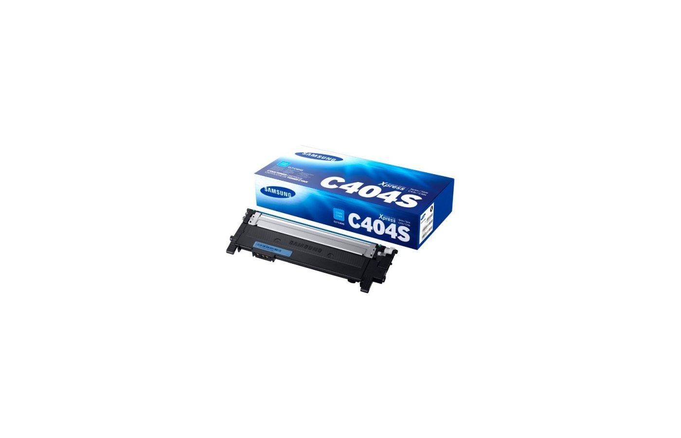 Картридж лазерный Samsung CLT-C404S/XEV голубой (1000стр.)