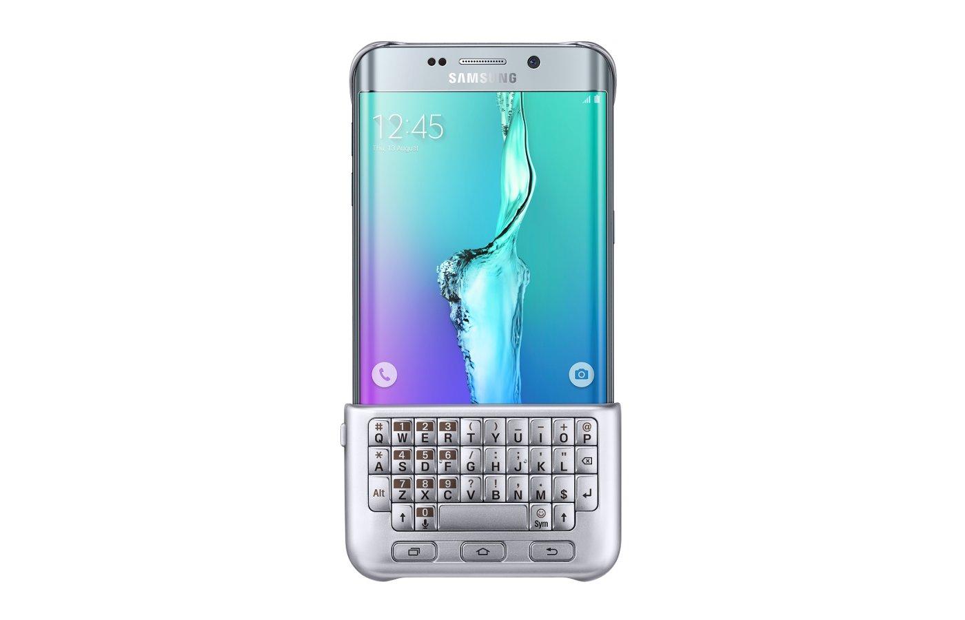 Чехол Samsung Keyboard для Galaxy S6 Edge+ (SM-G928) (EJ-CG928RSEGRU) silver