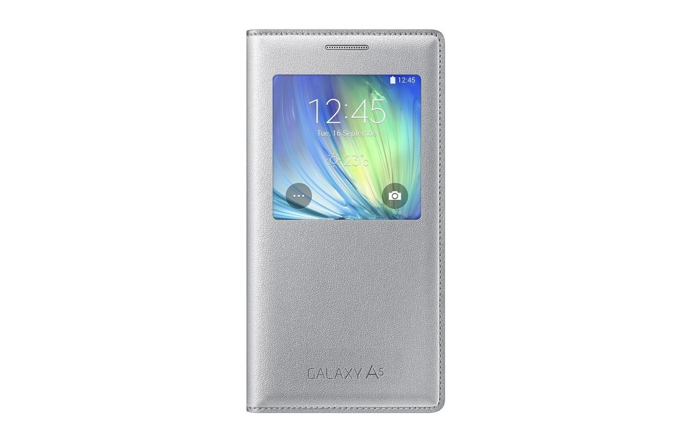 Чехол Samsung S-View для Galaxy A5 (SM-A500) (EF-CA500BSEGRU) silver