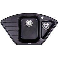 Фото Кухонная мойка Weissgauff CORNER 890 Eco Granit черный