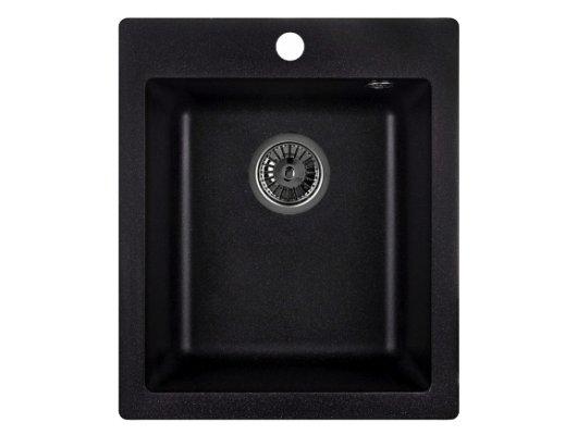Кухонная мойка Weissgauff QUADRO 420 Eco Granit черный