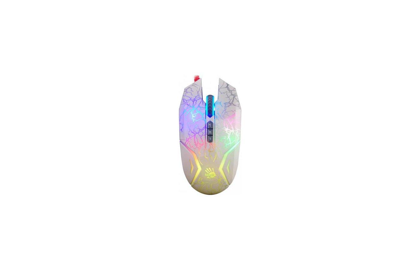 Мышь проводная A4Tech Bloody N50 Neon белый