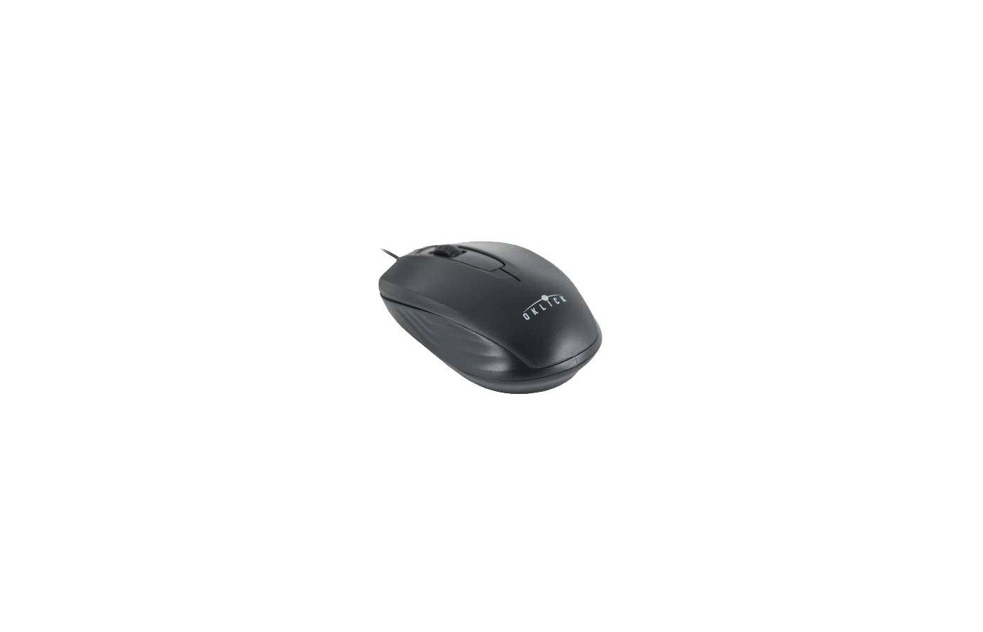 Мышь проводная Oklick 195M черный
