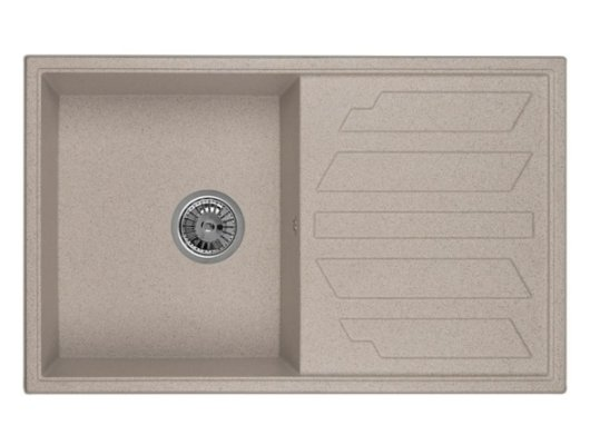 Кухонная мойка Weissgauff QUADRO 800 Eco Granit серый шелк