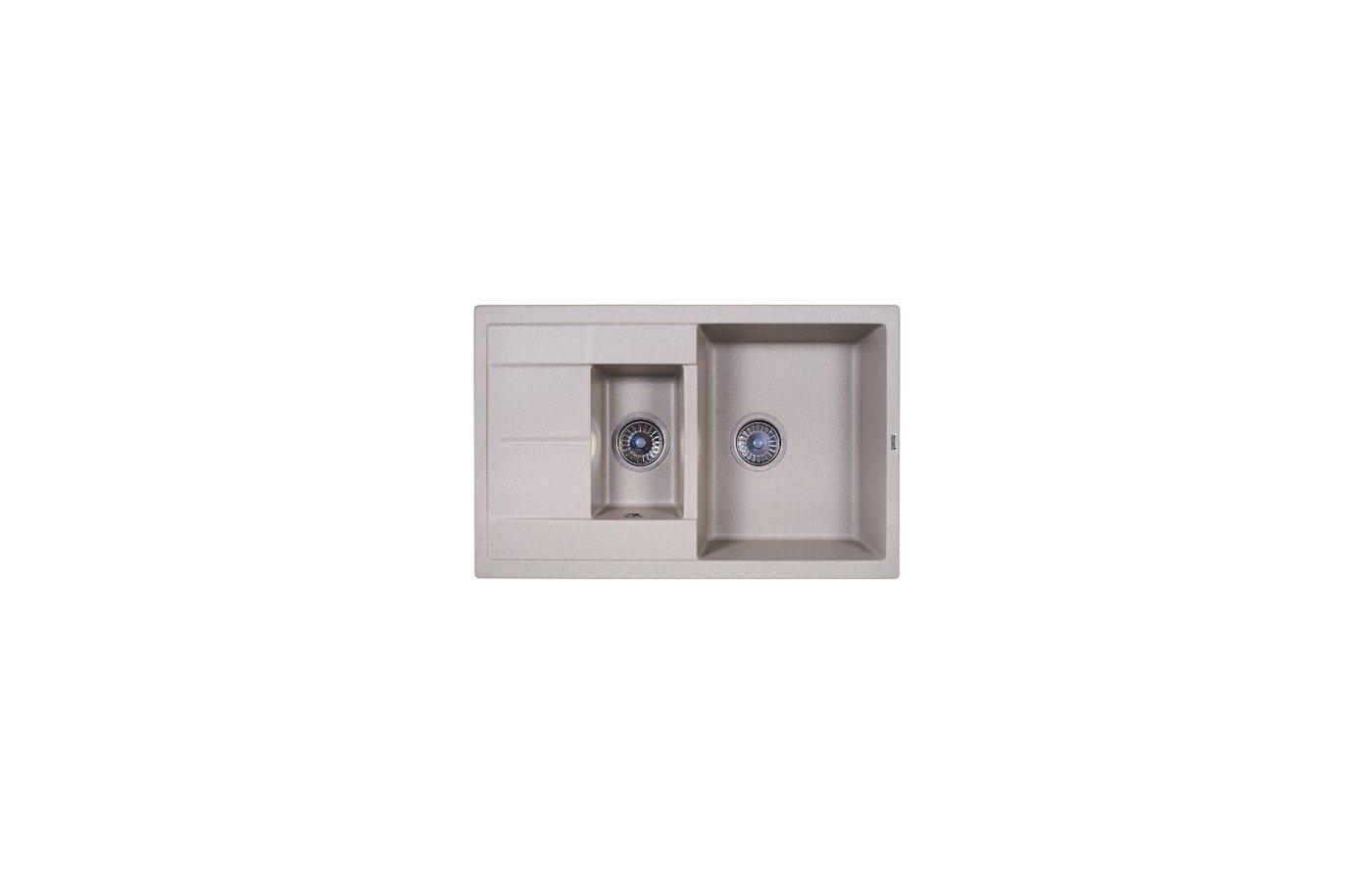 Кухонная мойка Weissgauff QUADRO 775K Eco Granit серый шелк
