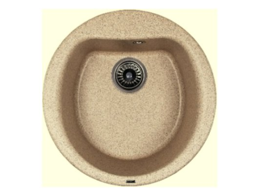Кухонная мойка Weissgauff RONDO 500 Eco Granit бежевый