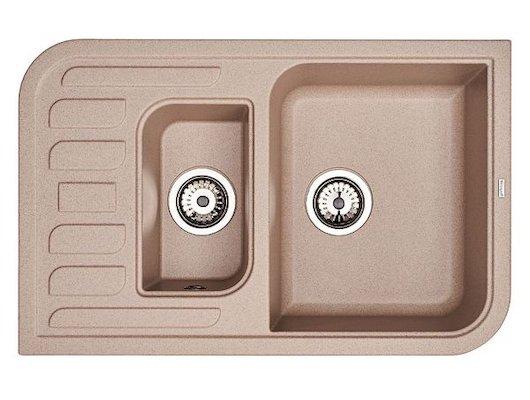Кухонная мойка Weissgauff SOFTLINE 780 Eco Granit серый беж