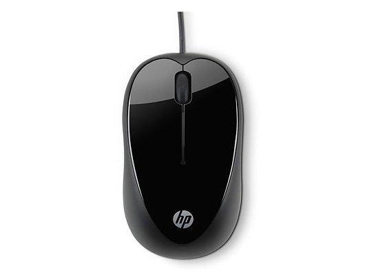 Мышь проводная HP X1000 черный оптическая (1600dpi) USB (2but)