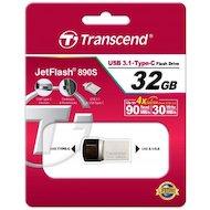 Фото Флеш-диск USB 3.1 Transcend JetFlash 32GB 890 OTG (TS32GJF890S)