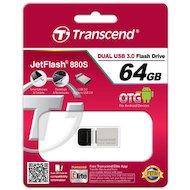 Фото Флеш-диск USB 3.0 Transcend JetFlash 64GB 880 OTG (TS64GJF880S)