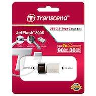 Фото Флеш-диск USB 3.1 Transcend JetFlash 64GB 890 OTG (TS64GJF890S)