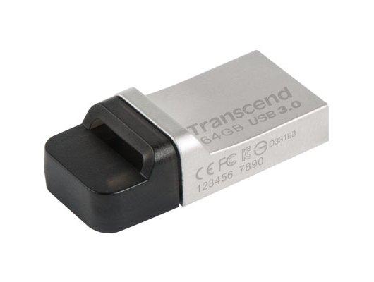 Флеш-диск USB 3.0 Transcend JetFlash 64GB 880 OTG (TS64GJF880S)