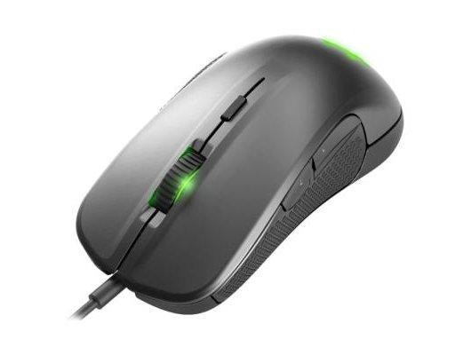 Мышь проводная Steelseries Rival 300 62350 серебристый оптическая (6500dpi) USB игровая (5but)