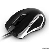Фото Мышь проводная Oklick 620L Black/Silver OPTICAL (800/1600) USB