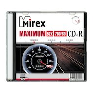 CD-диск CD-R Mirex MAXIMUM 700 Мб 52x Slim case (UL120052A8S)