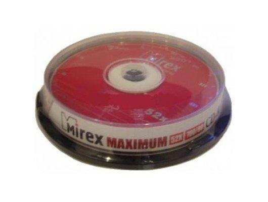 CD-диск CD-R Mirex MAXIMUM 700 Мб 52x Cake box 10 (UL120052A8L)