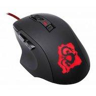 Фото Мышь проводная Oklick 725G DRAGON черный/красный оптическая (2400dpi) USB игровая (5but)