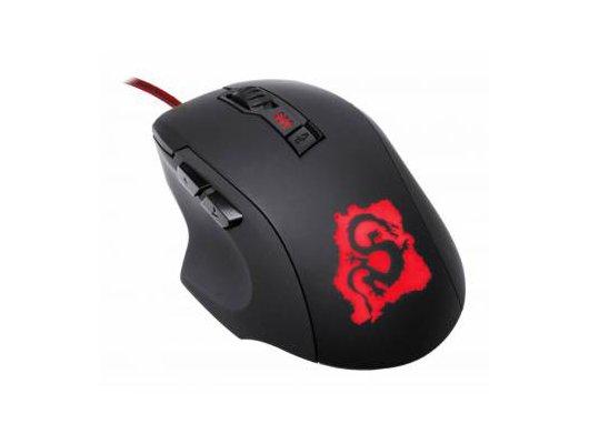 Мышь проводная Oklick 725G DRAGON черный/красный оптическая (2400dpi) USB игровая (5but)