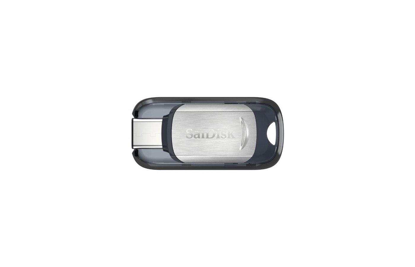 Флеш-диск USB3.0 Sandisk 128Gb Type C SDCZ450-128G-G46 черный/серебристый