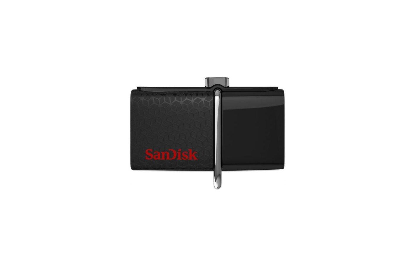 Флеш-диск USB3.0 Sandisk 16Gb Ultra Dual SDDD2-016G-GAM46 черный