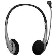 Фото Наушники с микрофоном проводные Defender Aura 114 черный + серый 1.8м