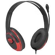 Фото Наушники с микрофоном проводные Defender Phoenix 875 черный + красный 1.8м