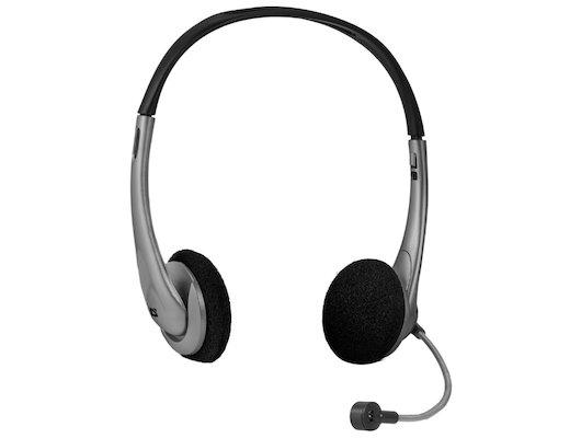 Наушники с микрофоном проводные Defender Aura 114 черный + серый 1.8м