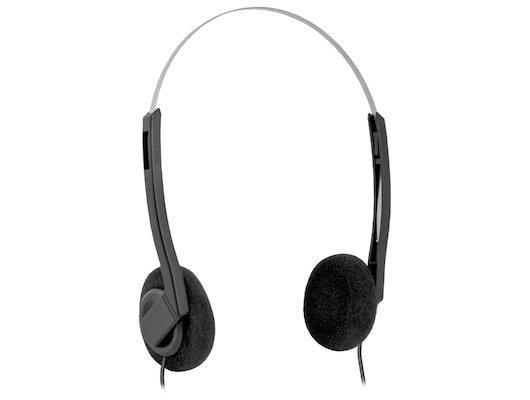 Наушники с микрофоном проводные Defender Aura 99 черный 1.8м