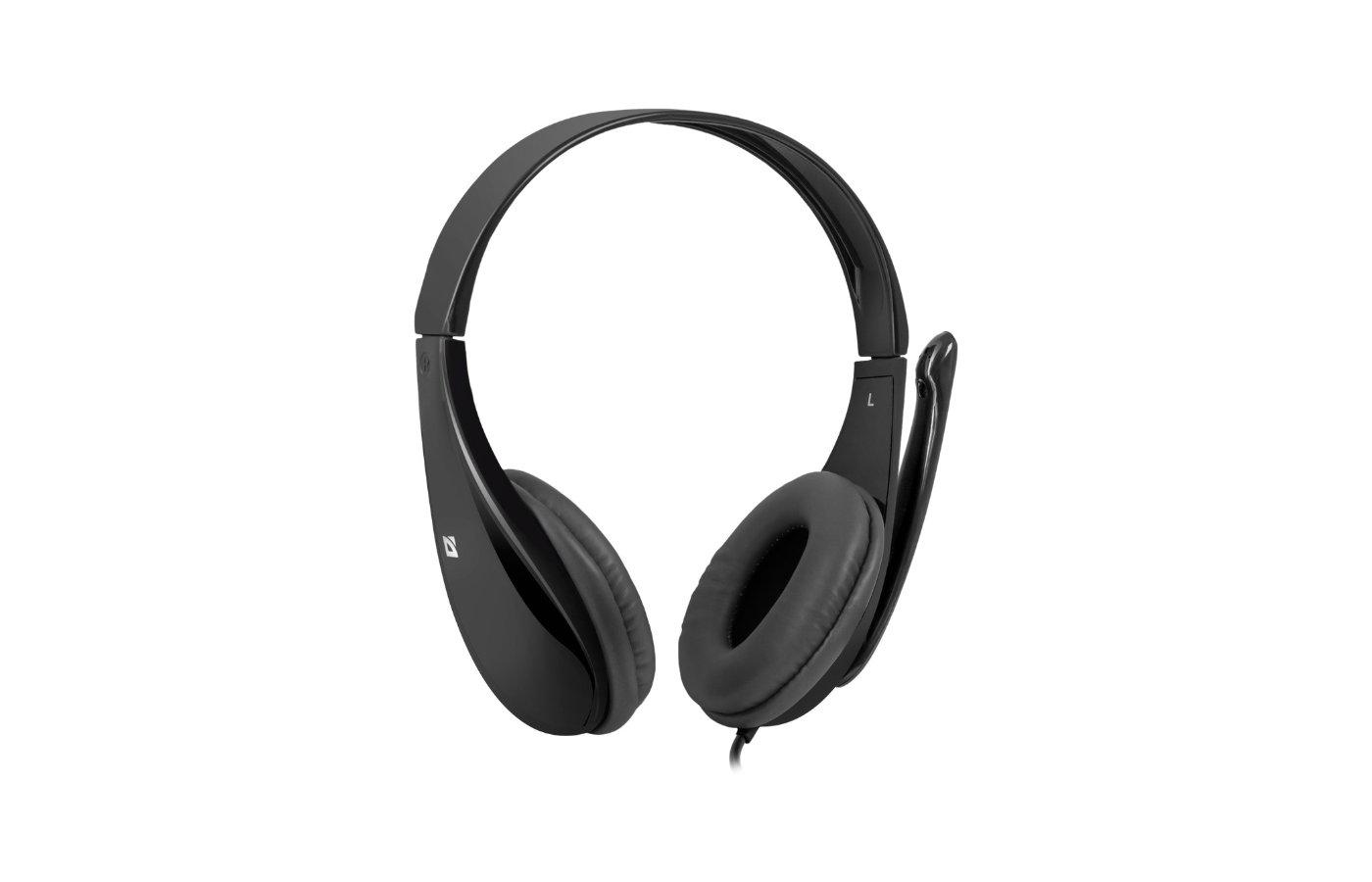 Наушники с микрофоном проводные Defender Aura 111 черный 2м