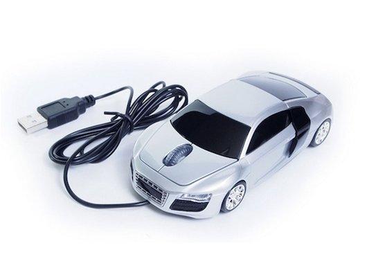 Мышь проводная QumoQ-DRIVE Audi R8 Silver USB