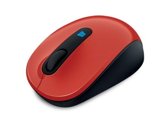 Мышь беспроводная Microsoft Sculpt Mobile (43U-00026) red