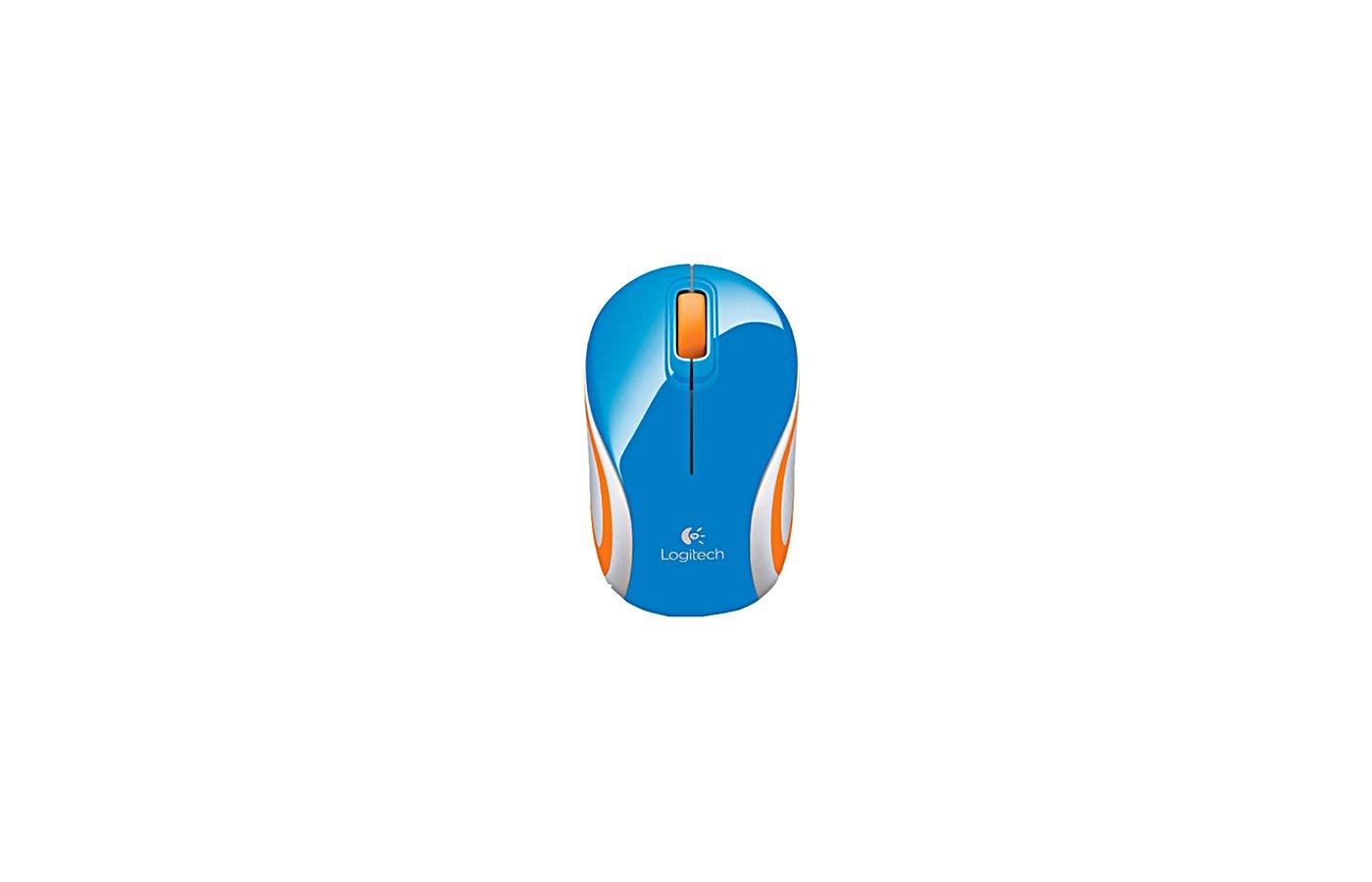 Мышь беспроводная Mouse Logitech Wireless Mini M187 blue (910-002738)
